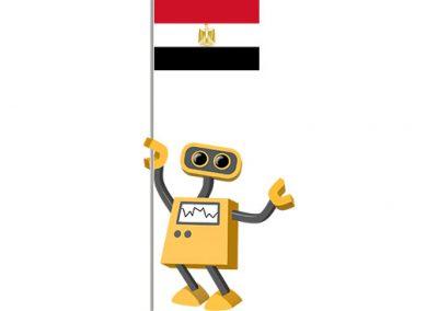 Robot 39-EG: Flag Bot, Egypt