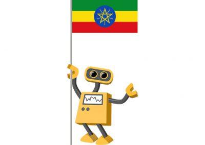 Robot 39-ET: Flag Bot, Ethiopia