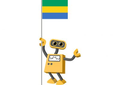 Robot 39-GA: Flag Bot, Gabon