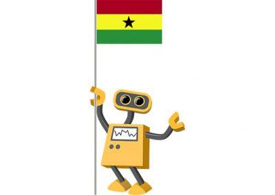 Robot 39-GH: Flag Bot, Ghana