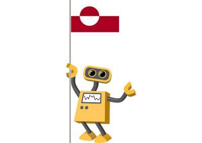 Robot 39-GL: Flag Bot, Greenland