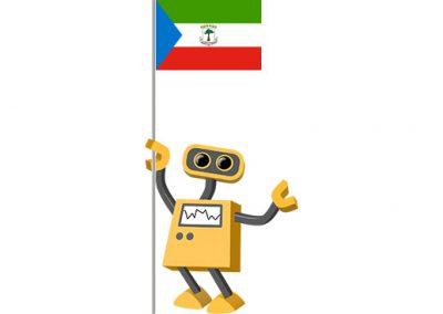 Robot 39-GQ: Flag Bot, Equatorial Guinea