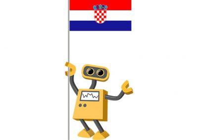 Robot 39-HR: Flag Bot, Croatia