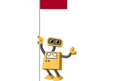Robot 39-ID: Flag Bot, Indonesia