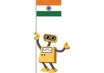 Robot 39-IN: Flag Bot, India