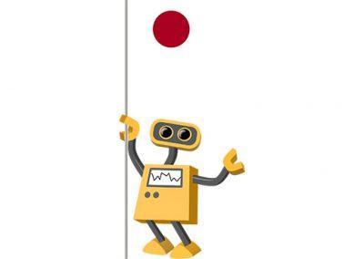 Robot 39-JP: Flag Bot, Japan