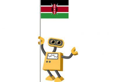 Robot 39-KE: Flag Bot, Kenya