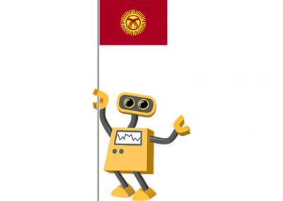Robot 39-KG: Flag Bot, Kyrgyzstan