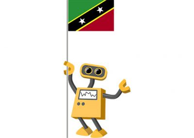 Robot 39-KN: Flag Bot, Saint Kitts and Nevis
