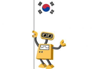 Robot 39-KR: Flag Bot, South Korea