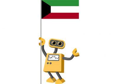 Robot 39-KW: Flag Bot, Kuwait