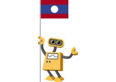 Robot 39-LA: Flag Bot, Laos