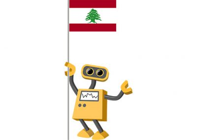 Robot 39-LB: Flag Bot, Lebanon