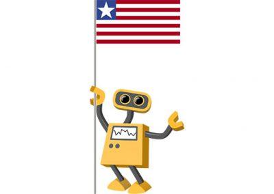 Robot 39-LR: Flag Bot, Liberia