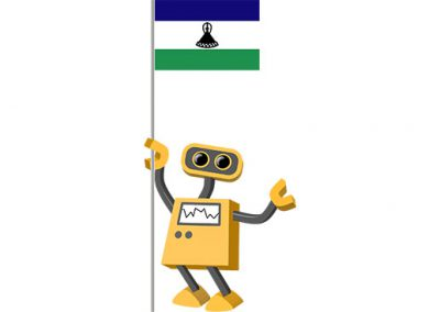 Robot 39-LS: Flag Bot, Lesotho