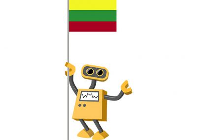 Robot 39-LT: Flag Bot, Lithuania