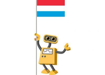 Robot 39-LU: Flag Bot, Luxembourg