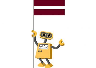 Robot 39-LV: Flag Bot, Latvia