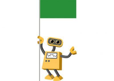 Robot 39-LY: Flag Bot, Libya