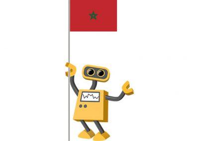 Robot 39-MA: Flag Bot, Morocco