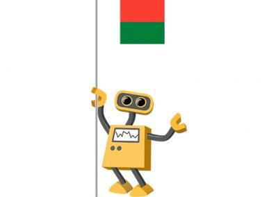 Robot 39-MG: Flag Bot, Madagascar