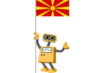 Robot 39-MK: Flag Bot, Macedonia