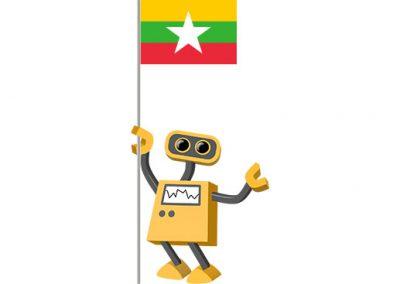 Robot 39-MM: Flag Bot, Myanmar