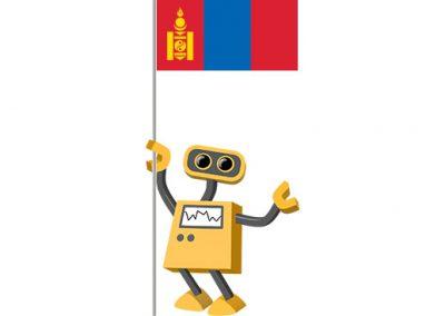 Robot 39-MN: Flag Bot, Mongolia