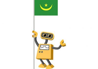 Robot 39-MR: Flag Bot, Mauritania
