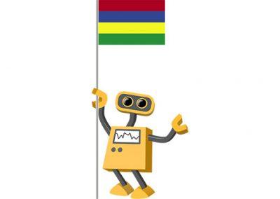 Robot 39-MU: Flag Bot, Mauritius