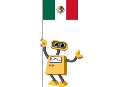 Robot 39-MX: Flag Bot, Mexico