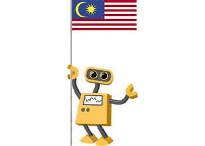 Robot 39-MY: Flag Bot, Malaysia