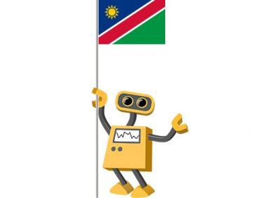 Robot 39-NA: Flag Bot, Namibia