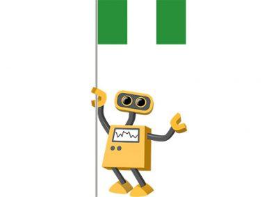 Robot 39-NG: Flag Bot, Nigeria