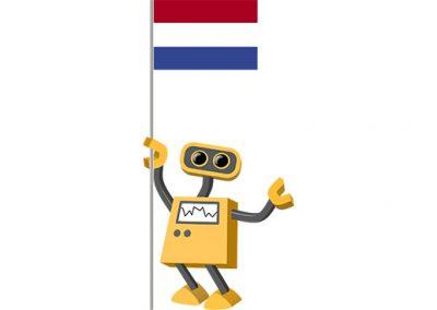 Robot 39-NL: Flag Bot, Netherlands