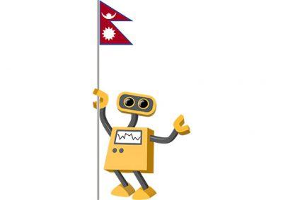 Robot 39-NP: Flag Bot, Nepal