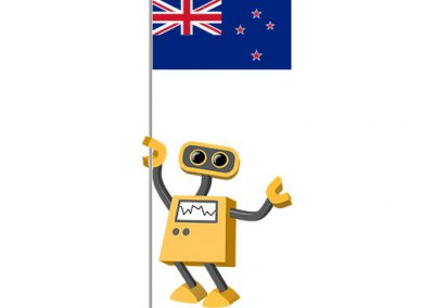 Robot 39-NZ: Flag Bot, New Zealand