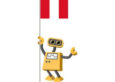 Robot 39-PE: Flag Bot, Peru