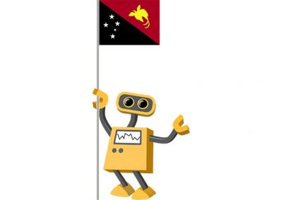 Robot 39-PG: Flag Bot, Papua New Guinea