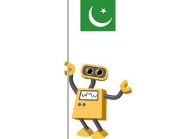 Robot 39-PK: Flag Bot, Pakistan