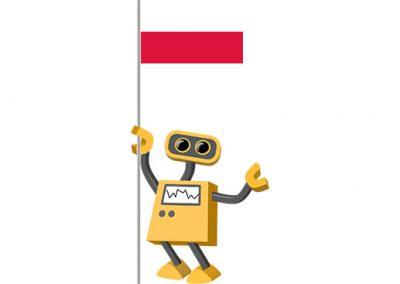 Robot 39-PL: Flag Bot, Poland