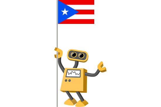 Robot 39-PR: Flag Bot, Puerto Rico