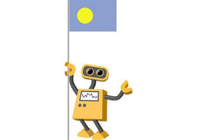 Robot 39-PW: Flag Bot, Palau
