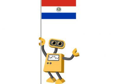 Robot 39-PY: Flag Bot, Paraguay