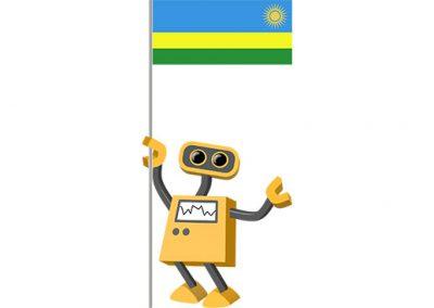 Robot 39-RW: Flag Bot, Rwanda