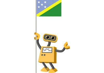 Robot 39-SB: Flag Bot, Solomon Islands