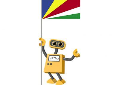 Robot 39-SC: Flag Bot, Seychelles