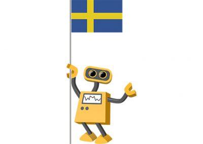 Robot 39-SE: Flag Bot, Sweden