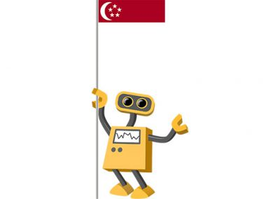 Robot 39-SG: Flag Bot, Singapore