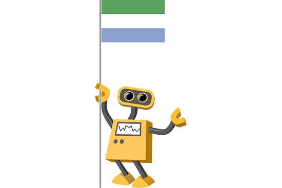 Robot 39-SL: Flag Bot, Sierra Leone